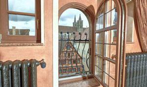 Ausblick aus dem Fenster von Zimmer 34